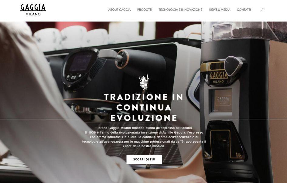 The new Gaggia Milano Web Site is Up and Running!